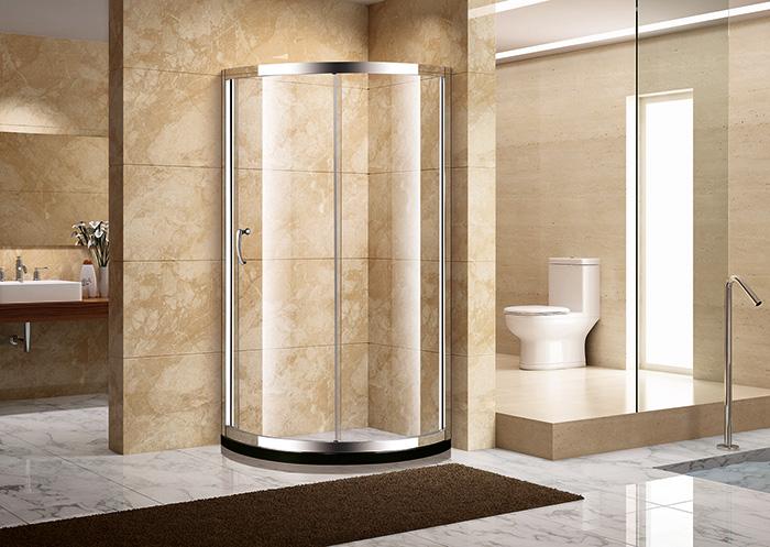 卫生间淋浴房圆形的好还是长方形的好 4款家用洗浴桑拿扇形淋浴房尺寸设计图