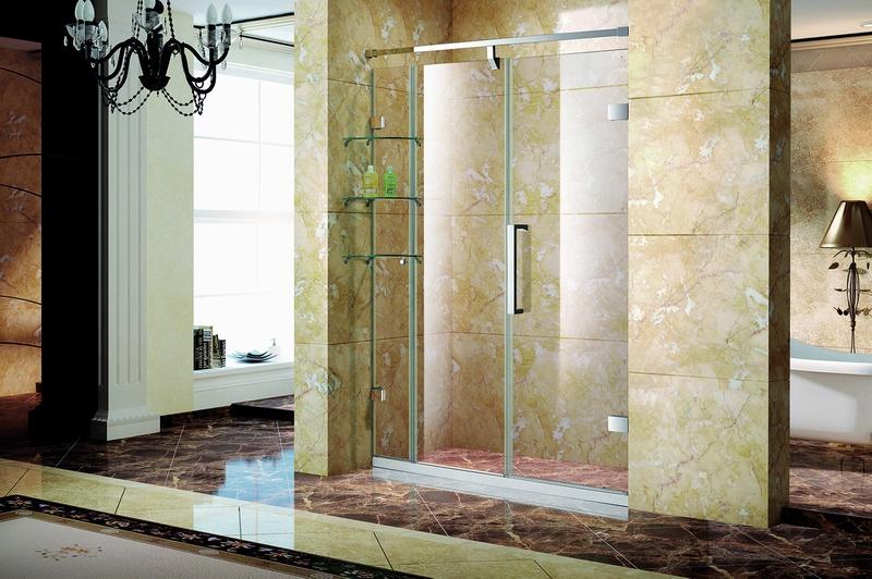 银河.7661W不锈钢镜钢淋浴房