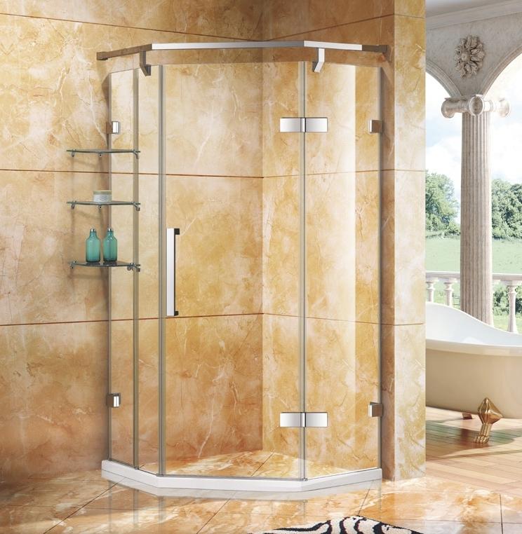 银河.7631W不锈钢镜钢淋浴房