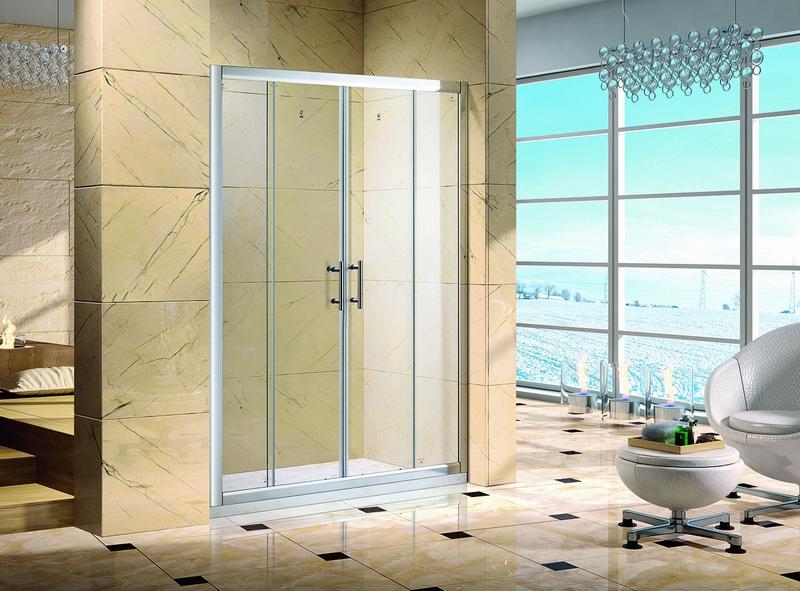 海韵.6164不锈钢镜钢淋浴房