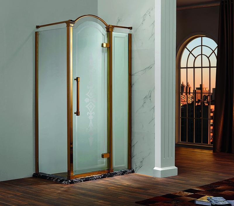> 供应彩色不锈钢淋浴房  凡尔赛86系列 五金材质 sus304不锈钢 玻璃