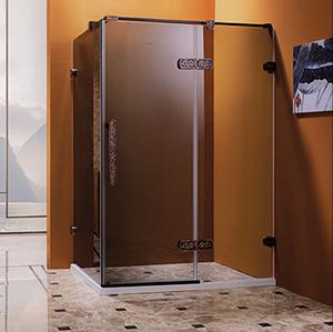 S-7811汉诺花纹不锈钢淋浴房